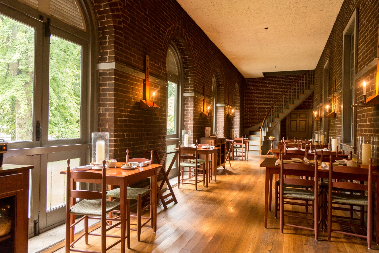 The Trustee's Table is Shaker Village's farm to table restaurant. Reservations are encouraged.. / Image: Daniel Smyth