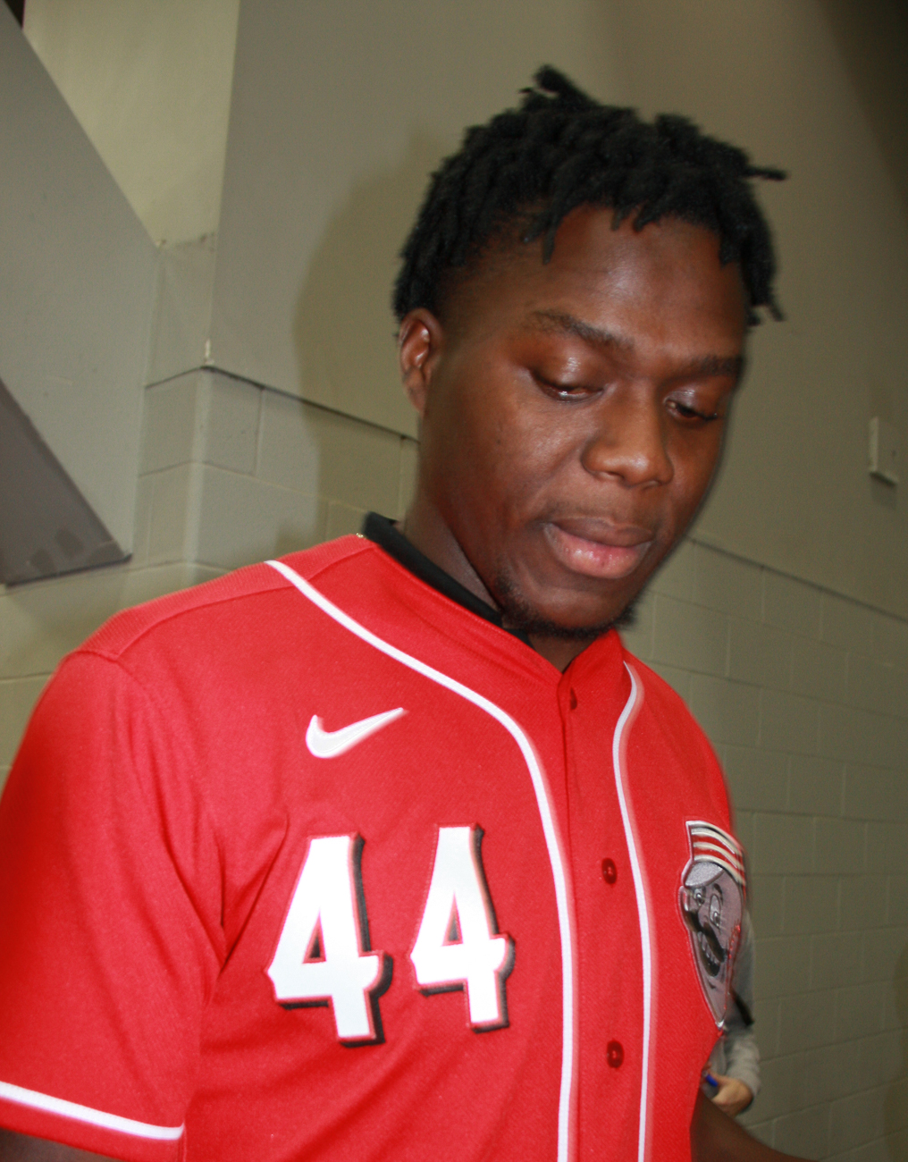 Aristides Aquino, right fielder #44