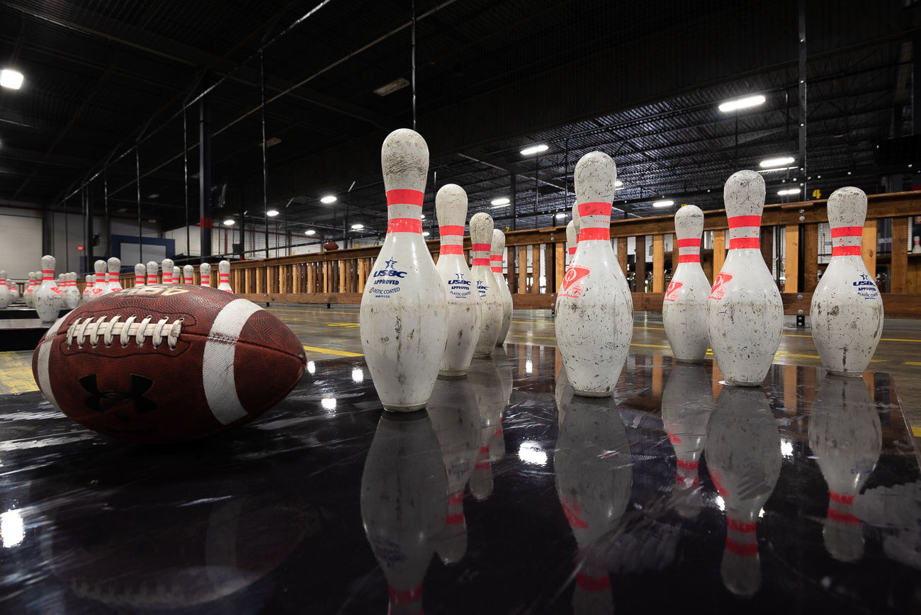 "<p>2. Go Fowling / It's football bowling. As in, you throw a football at bowling pins. The Fowling Warehouse in Pleasant Ridge is a 47,000-square-foot facility with more than enough ""lanes"" to play while a bar sits off to the side if you feel inclined to wet your whistle. I know what you're thinking: fowling sounds too easy. You are incorrect. It is actually pretty challenging. / Image: Phil Armstrong // Published: 1.25.20</p>"
