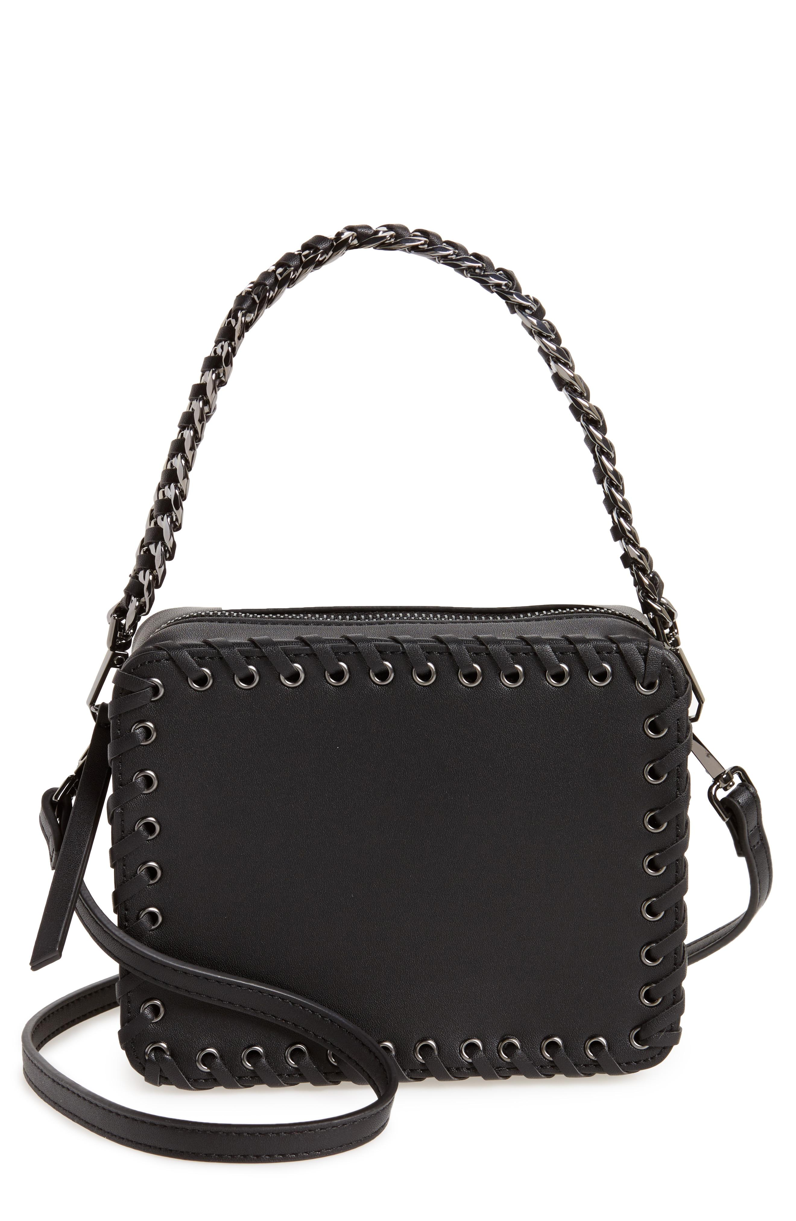 Topshop Rogue Whipstitch Faux Leather Crossbody Bag from Nordstrom{&amp;nbsp;} // Price: $52.00 //{&amp;nbsp;}(Image: Nordstrom // Nordstrom.com)<p></p>