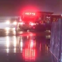 High-standing water from rainstorm causes difficult late night travel on I-495