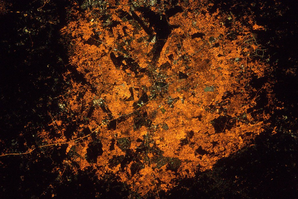 Bangalore, in India. It's strange how cities at night all look so different (Photo & Caption: Thomas Pesquet // NASA)