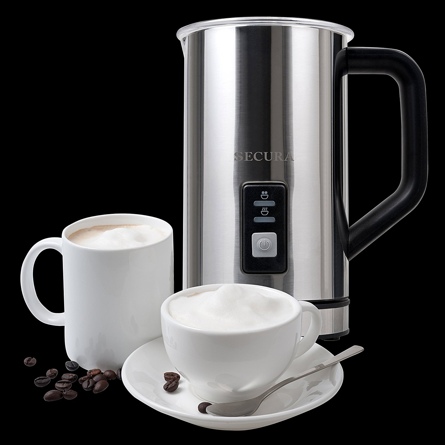 True coffee connoisseurs will appreciate a nice milk frother. The Secura Automatic Electric Milk Frother and Warmer from Amazon makes both hot and cold milk froth for cappuccinos, lattes or even *gasp* coffee free drinks.{&amp;nbsp;} (Image: Amazon.com)<p></p>