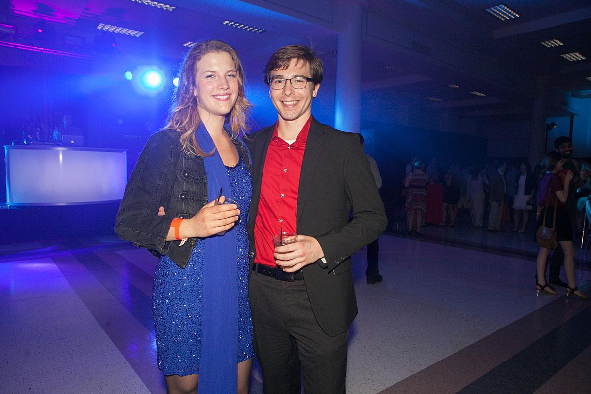Morgan and Jessica party the night in McCaw Hall at the SIFF Opening Night Gala. (Image: Joshua Lewis / Seattle Refined)