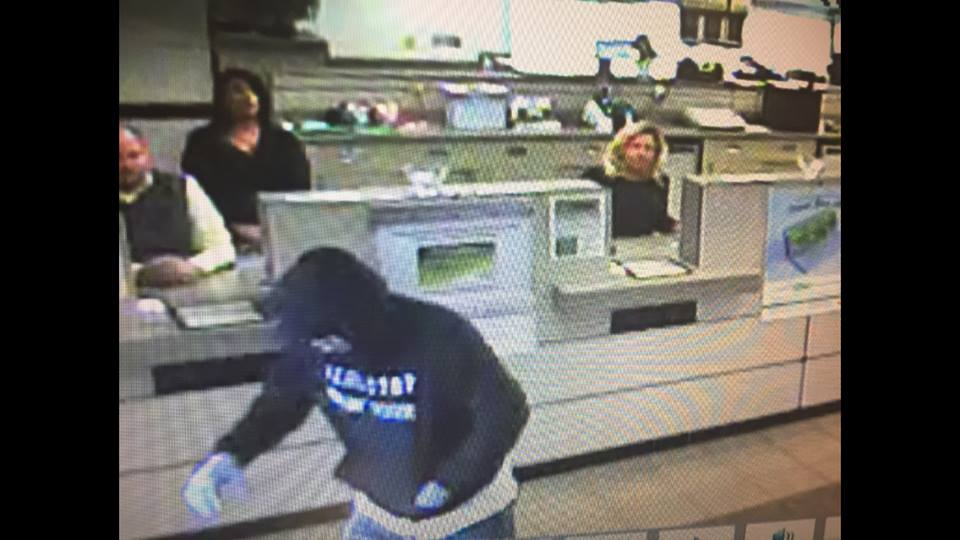 Deputies said the male suspect entered the bank and left on foot toward the area of a nearby car wash. (Scioto County Sheriff's Office)