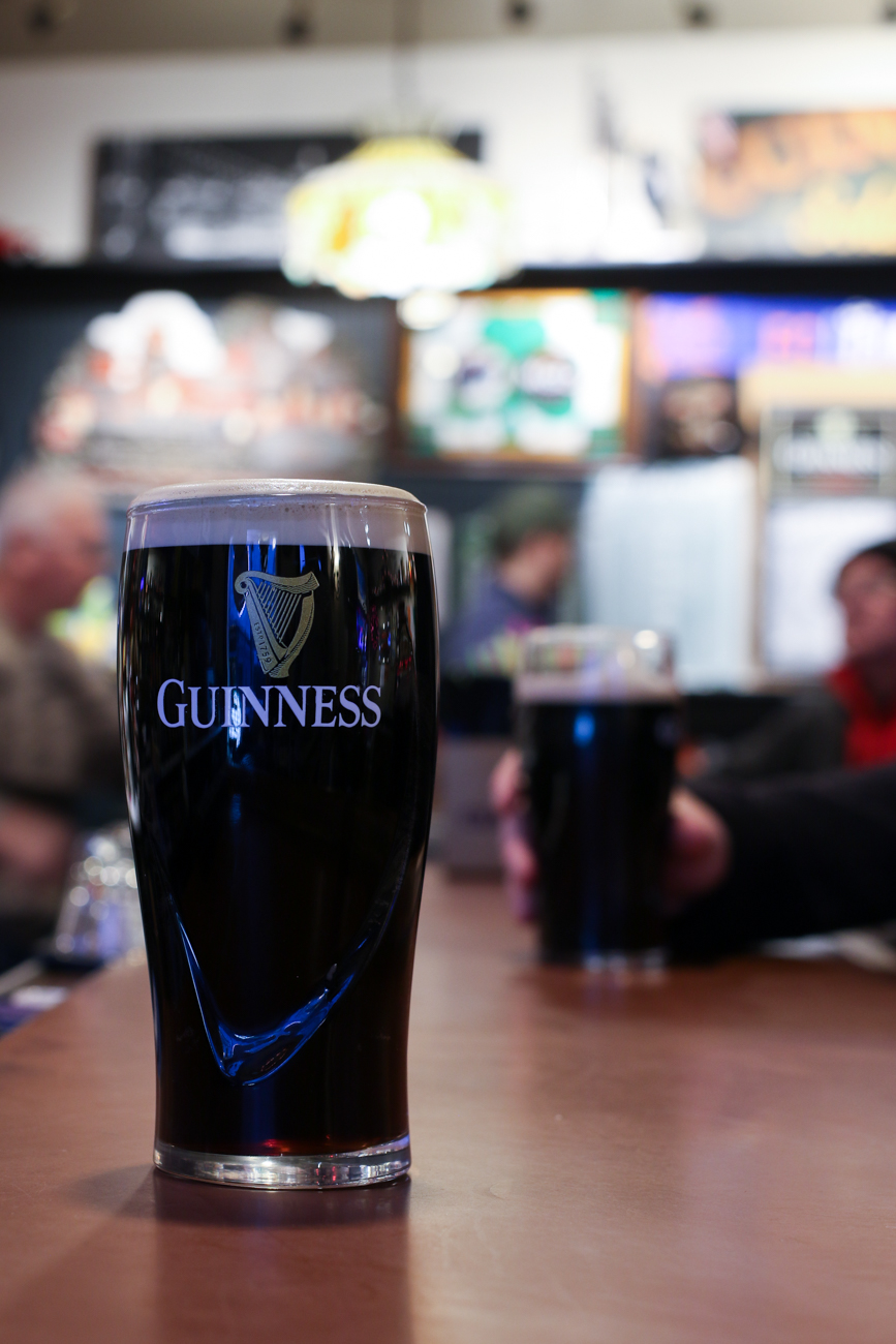 Guinness is the pub's signature drink. / Image: Ronny Salerno // Published: 2.4.19