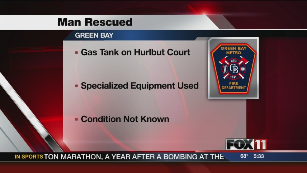 Man rescued from gasoline storage tank