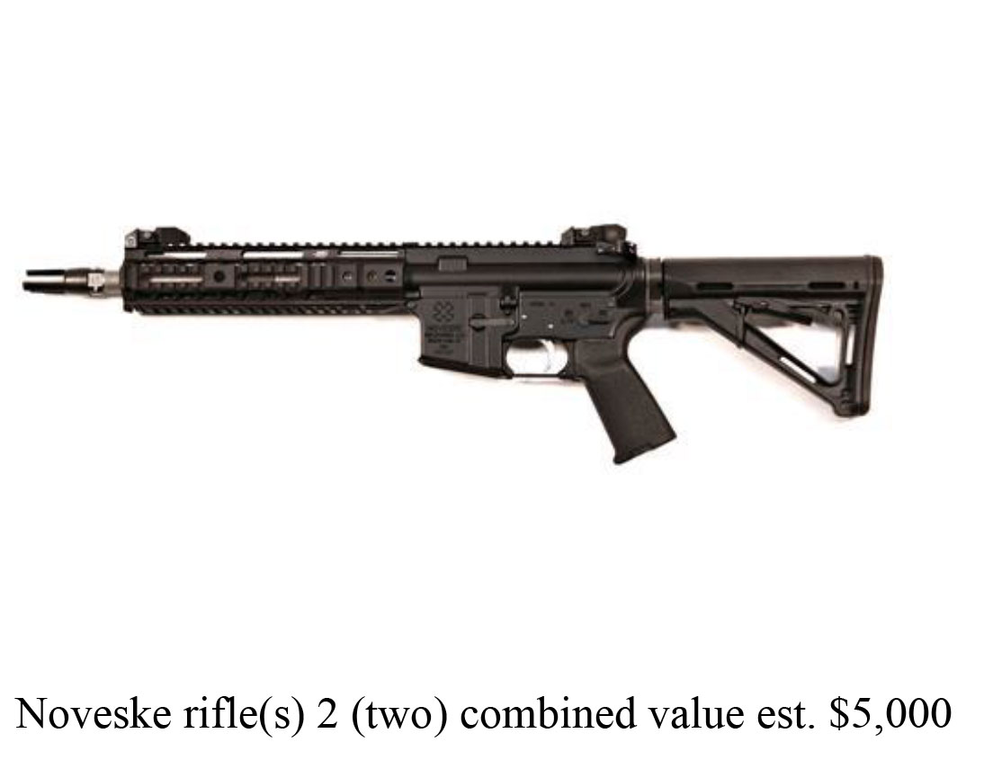 The suspect stole two Noveske brand assault rifles worth $2,500 each on June 24, police said. (Photo via SPD)
