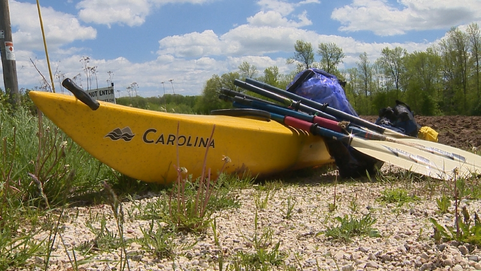 Seven kayakers and canoeists are safe after a water rescue in Manitowoc County on Tuesday, June 3, 2014. (WLUK)