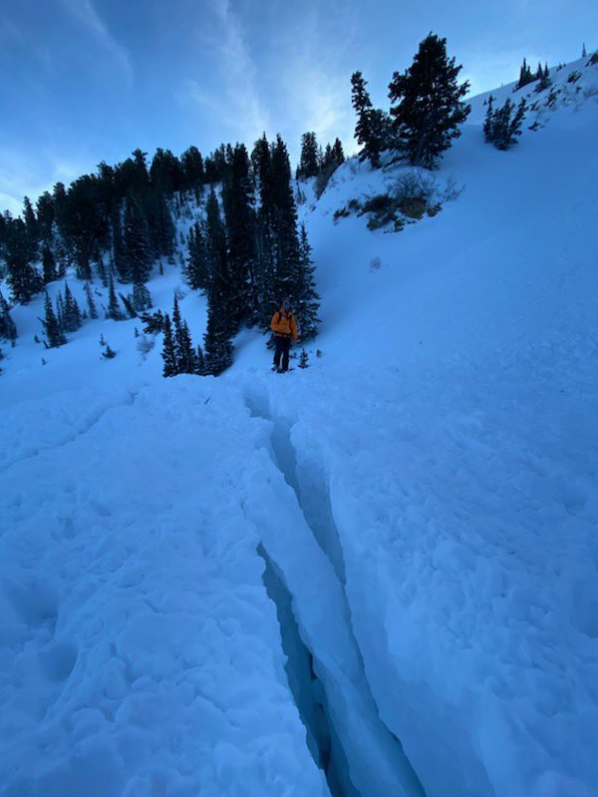 An 18-year-old snowmobiler was rescued from an avalanche in Farmington Canyon on Saturday, Jan. 18, 2020, but did not survive his injuries. (Photo courtesy Davis County Sheriff's Office)