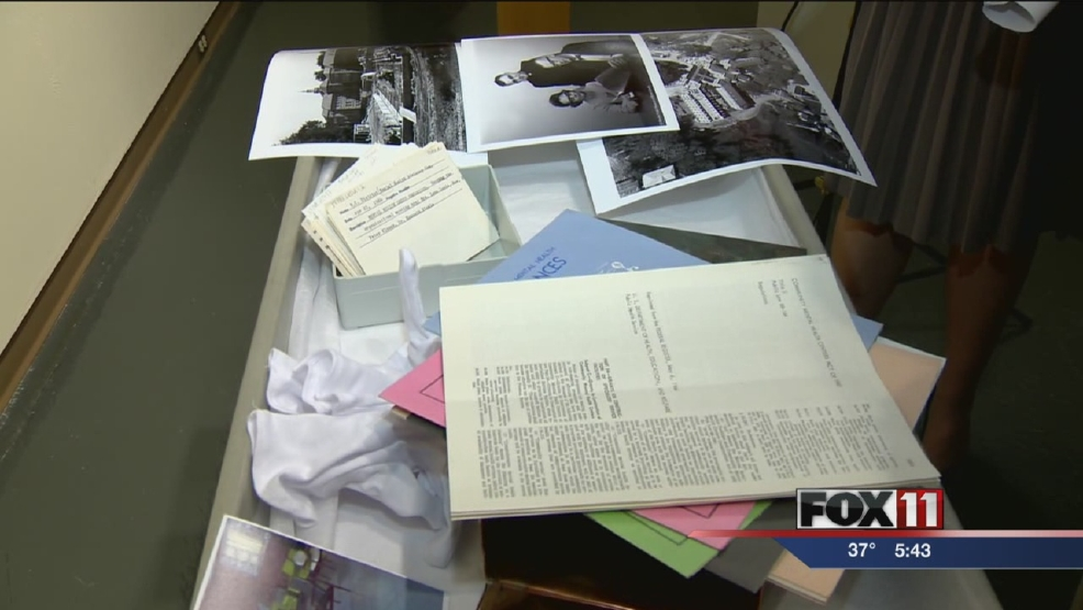 Time capsule opened at Neville Public Museum