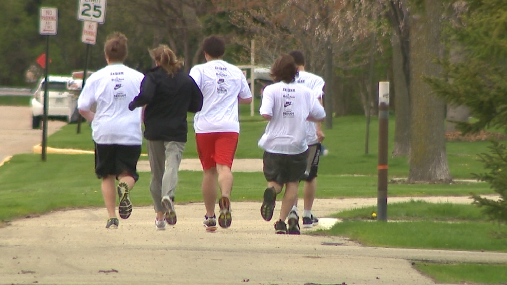 The Runner's High program at Neenah High School aims to keep kids away from drugs and into running, as they train for a half marathon.