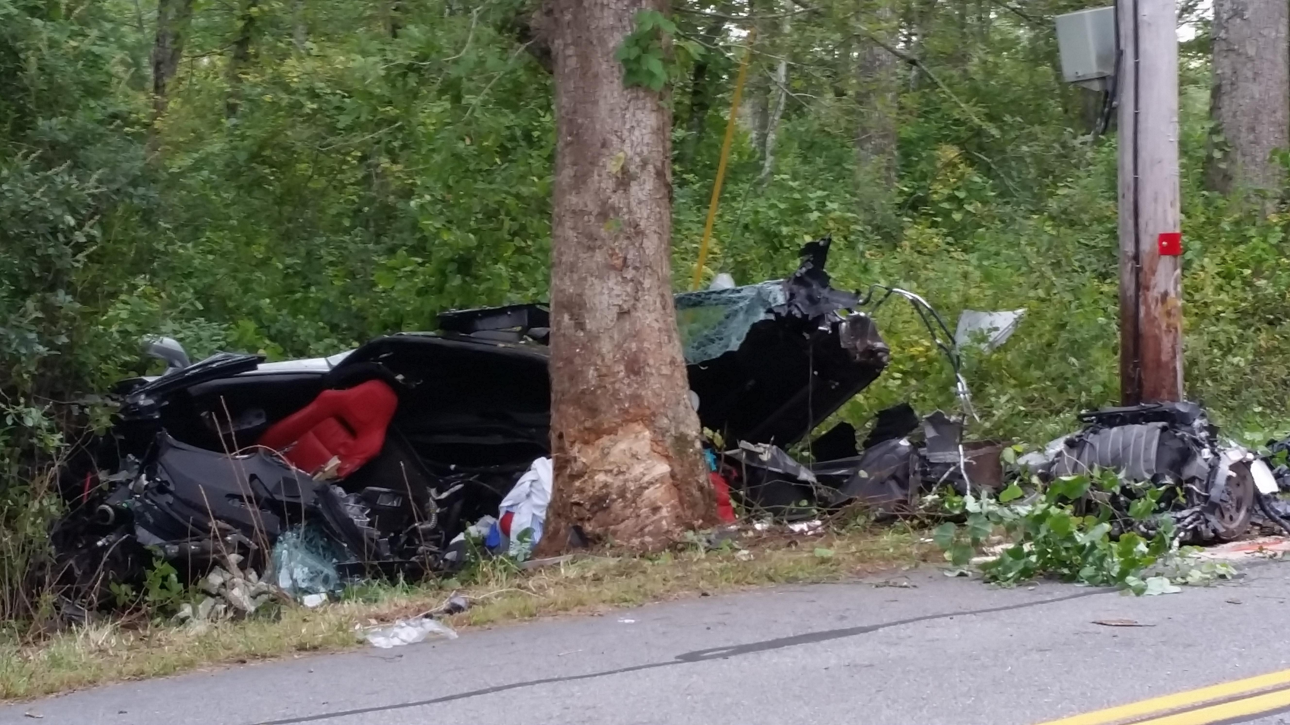 A person was killed on a single-car crash in South Kingstown on Monday, Sept. 18, 2017. (WJAR)