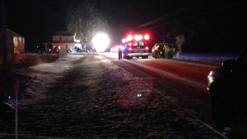 Authorities respond to a crash on County Line Rd. in the Manitowoc County town of Meeme, Feb. 4, 2014. (WLUK photo)