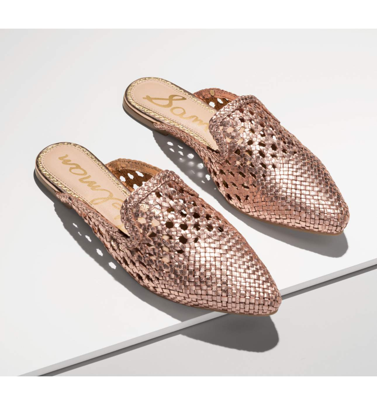 <p>Metalic shades scream rock n roll.{&nbsp;} You'll see mules marching all over the streets of Seattle this Spring.{&nbsp;} Perfect for tackling those big Seattle hills downtown. Navya Woven Loafer Mule - $89.95. (Image: Nordstrom){&nbsp;}</p><p></p>