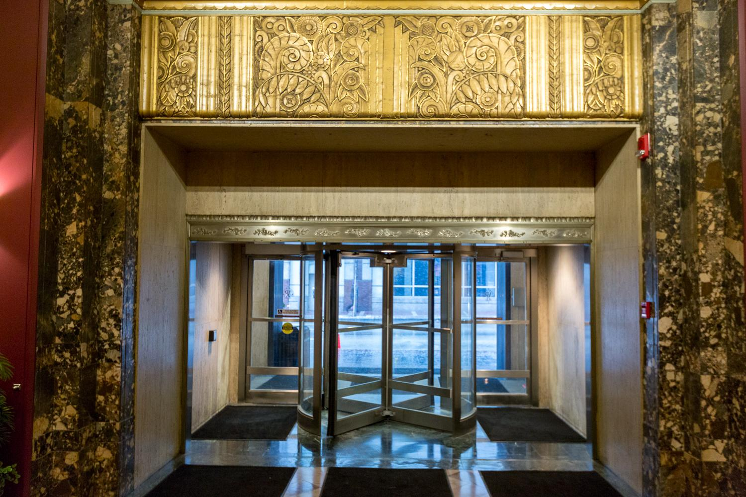 The Hilton Netherland Plaza was designed in a French Art Deco style, a slight shift from the more familiar American take on the aesthetic. / Image: Daniel Smyth Photography