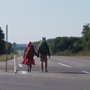 Couple walking 2,918 miles stops in the Heartland