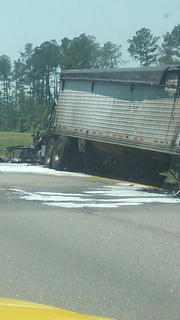 Viewer submitted photo from the scene of the crash. (WPDE)