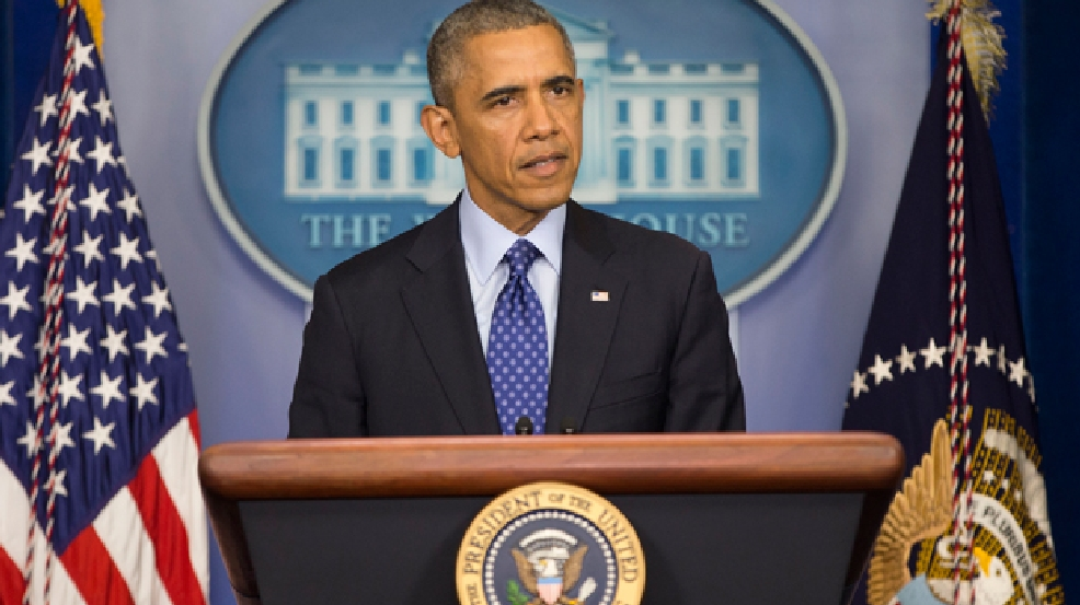 President Barack Obama speaks to members of the media about the situation in Iraq, Thursday, June 19, 2014, in the Brady Press Briefing Room of the White House in Washington. In the strongest sign yet of U.S. doubts about Iraq's stability, the Obama administration is weighing whether to press the Shiite prime minister in Baghdad to step down in a last-ditch effort to prevent disgruntled Sunnis from igniting a full-scale civil war. (AP Photo/Pablo Martinez Monsivais)