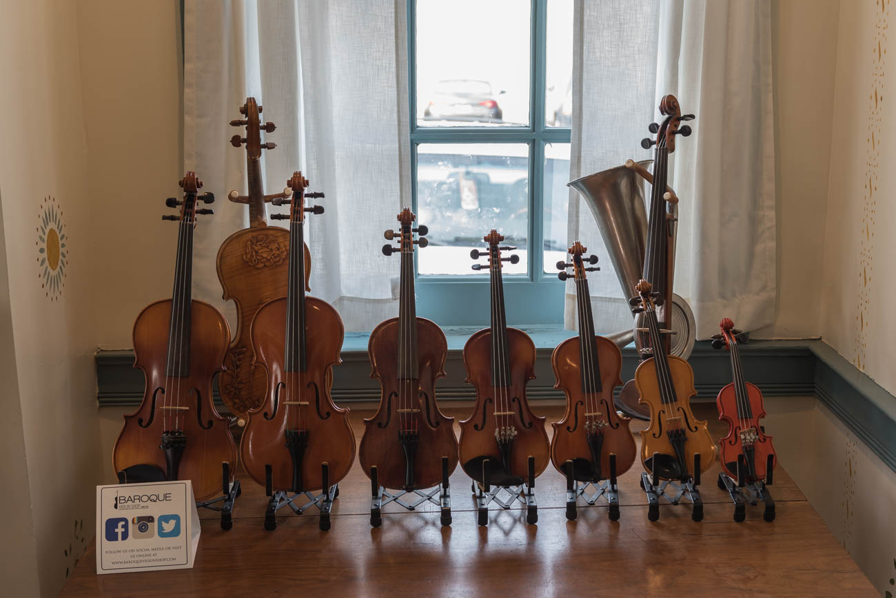 The Baroque Violin Shop is the self-proclaimed oldest store of its type in the Cincinnati area. The business is set within three buildings, one of which was the former residence of a Revolutionary War veteran and built in 1805. The shop sells instruments, offers rentals, and also features a full service repair department. In addition to violins, BVS sells violas, cellos, basses, instrument peripherals, and music-themed clothing. ADDRESS: 1308 W. North Bend Road (45224) / Image: Mike Menke // Published: 3.18.18
