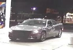 This surveillance image released by the Manitowoc Police Dept. shows a vehicle believed to be involved in the robbery of a store in North Greenbush, N.Y., and the armed robbery of a Manitowoc store.