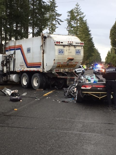 Pierce County Sheriff's Deputies investigate a crash that left a teen driver critically injured in Spanaway (Photo: Pierce County Sheriff's Department)