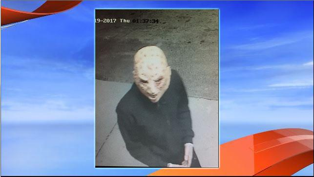 Investigators are looking for two masked individuals in a series of armed robberies at businesses in central Florida. (Marion County Sheriff's Office)<p></p>