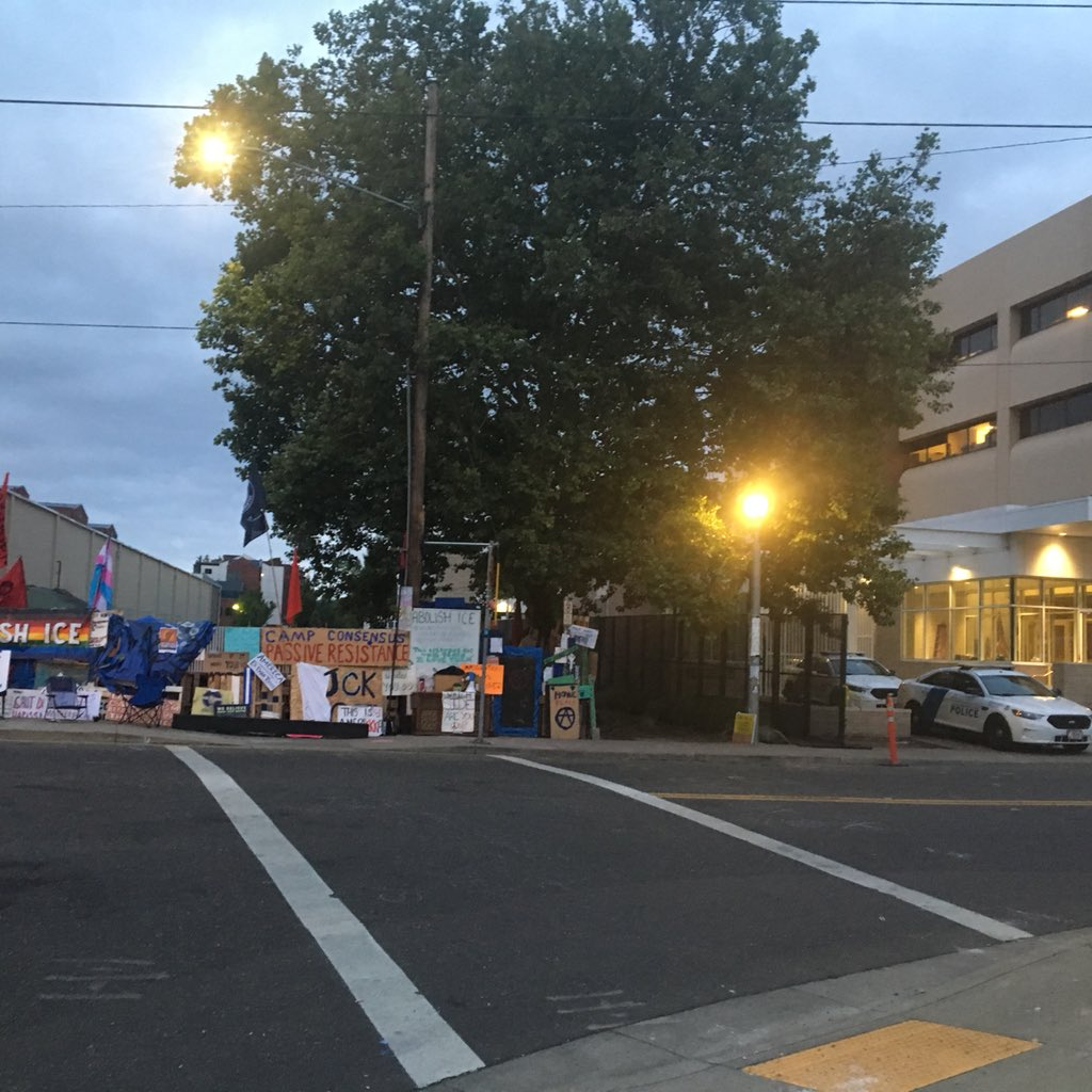 The ICE building in Southwest Portland will resume full operations on July 3, 2018. Protesters closed the facility for almost two weeks. KATU photo