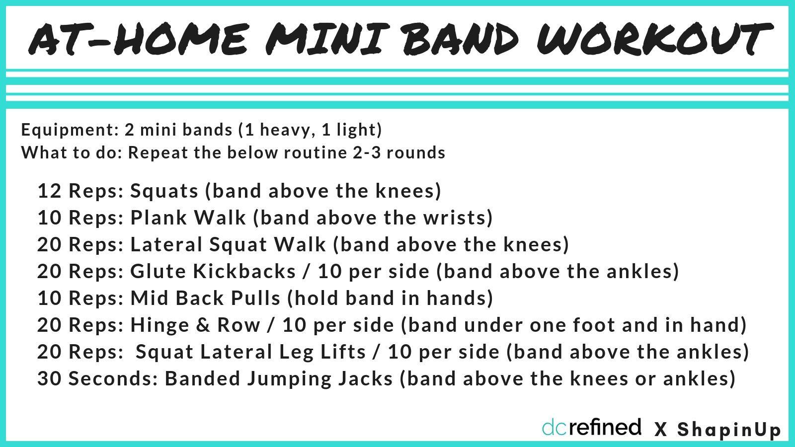 Mini bands are an inexpensive yet challenging piece of equipment to add to your at-home gym.{ } (Image: Amanda Shapin)