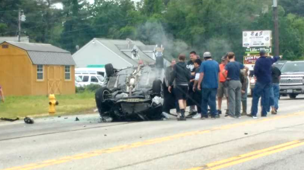 Route 1 was closed from Old Blue Point Rd in Scarborough to Cascade Road in Saco due to a major accident in Saco. (Photo: Amanda Brown)