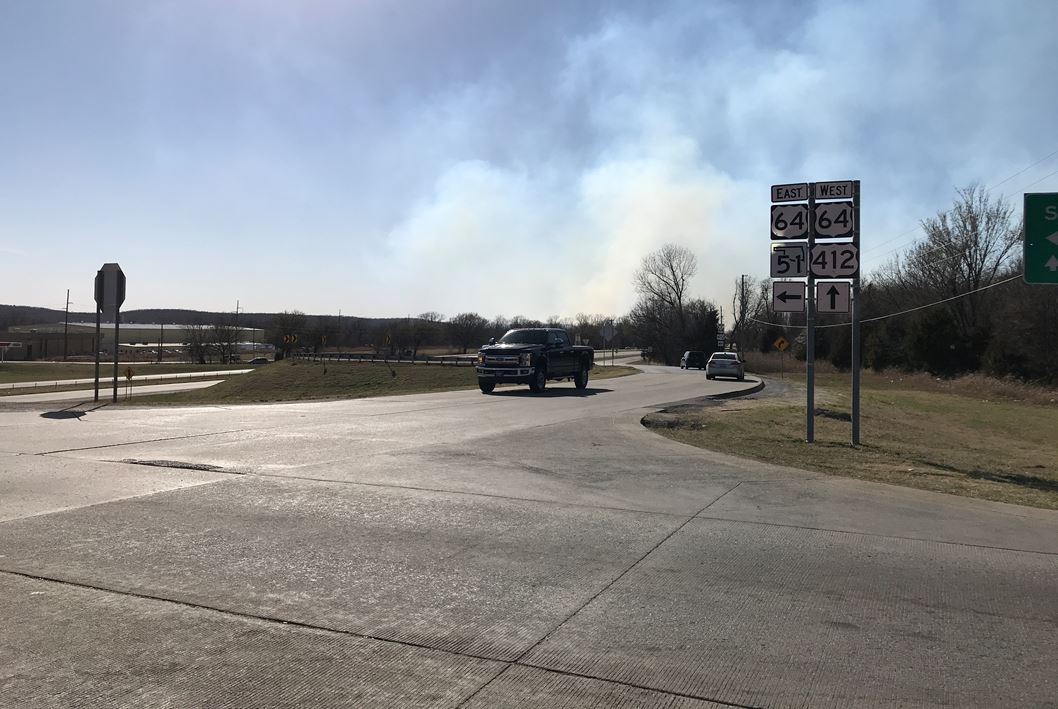 Sand Springs firefighters are battling multiple grass fires near 177th W. Ave. and Wekiwa Rd. Highway 97T is closed at W. 4th St. (KTUL)