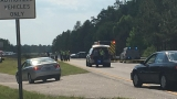 Wreck with injuries closes multiple lanes on Highway 22