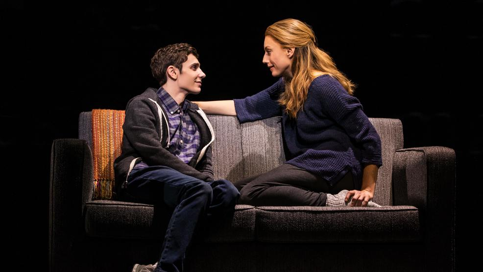 4 - Ben Levi Ross as 'Evan Hansen' and Jessica Phillips as 'Heidi Hansen' in the First North American Tour of Dear Evan Hansen. Photo by Matthew Murphy. 2018.jpg