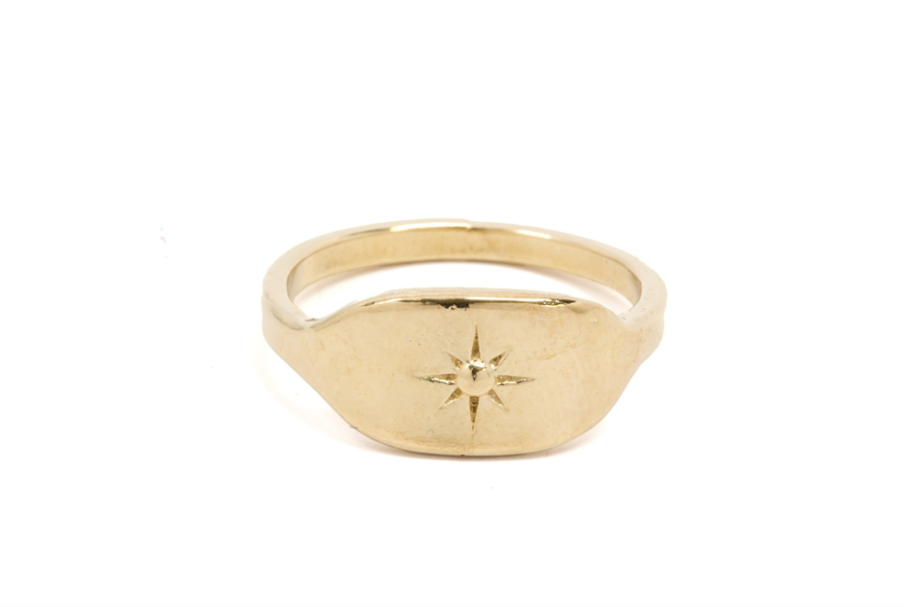 North Star Signet Ring from Moorea  Seal Collection ($80). Find on mooreaseal.com. (Image: Moorea Seal)
