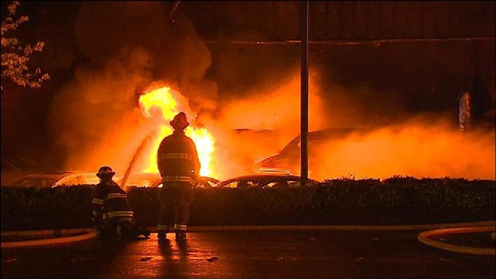 Crews battle stubborn fire at Bellevue Ford dealership ...