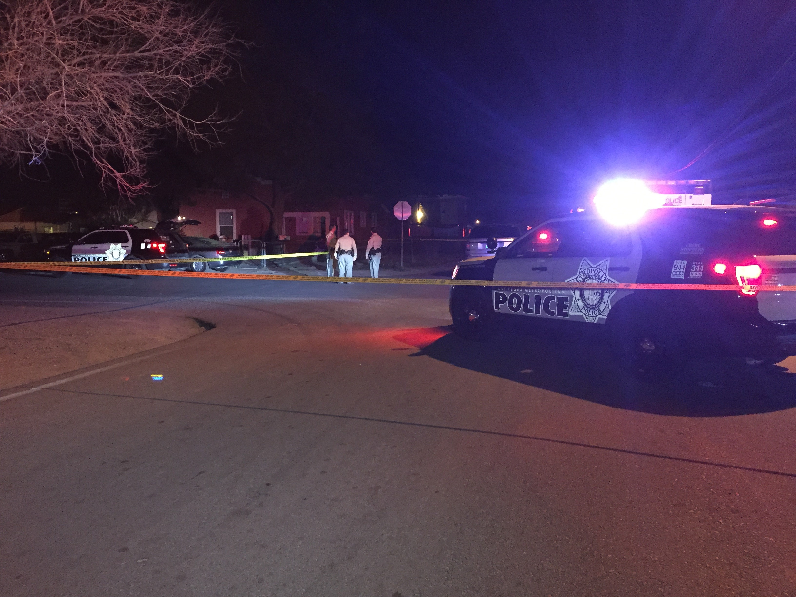 Two dead, one injured in shooting near Charleston and Pecos. (Ken Takahashi | KSNV)