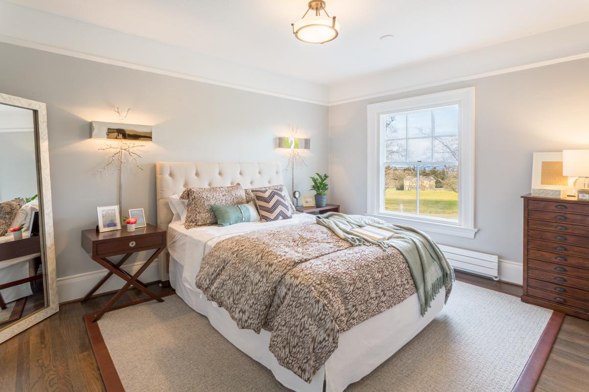 The Ambrose master bedroom showcases beautiful second-floor views, plus two closets and master bathroom.