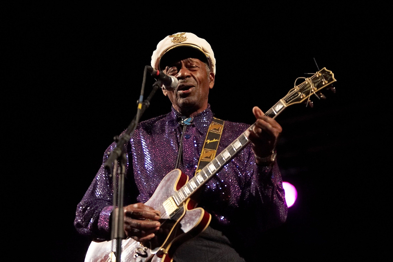 Chuck Berry performing live in concert at The Rockhal Esch-Sur-Alzette, Luxembourg - 19.11.07  Featuring: Chuck Berry Where: Portugal When: 19 Nov 2007 Credit: Rui M Leal / WENN