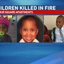 Family and friends mourn the loss of three young children killed in fire