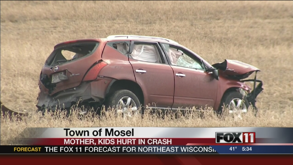 Mother, two children injured in Sheboygan Co. crash