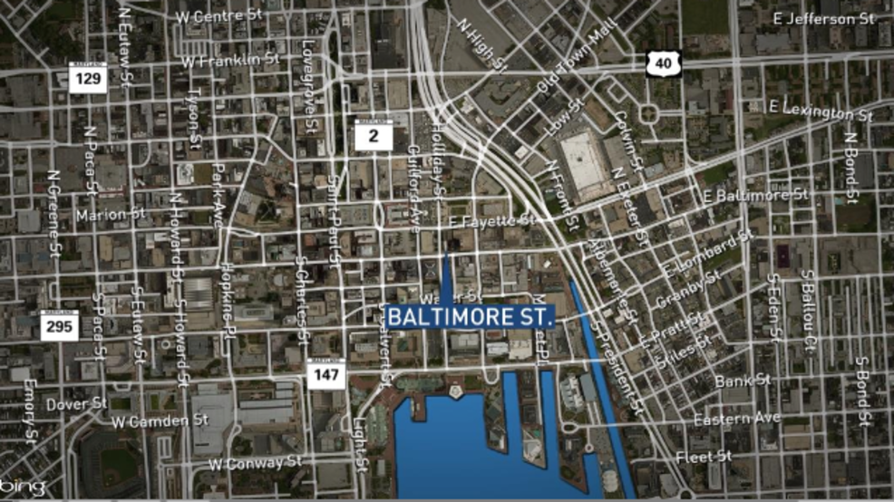1 injured car shot at early Thursday on downtown Baltimores