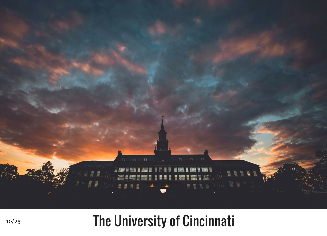 WHAT: The University of Cincinnati / WHERE: 2600 Clifton Avenue, CUF 45220 / Image: Nick Brown / Published: 10.27.16