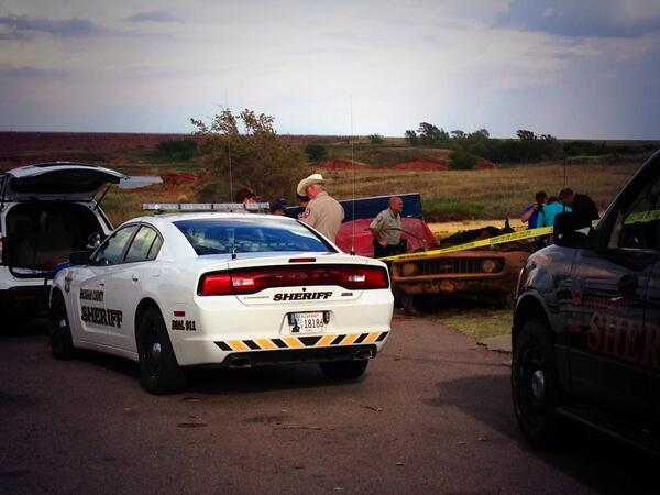 Authorities pulled two vehicles from Custer Counties Foss Lake.