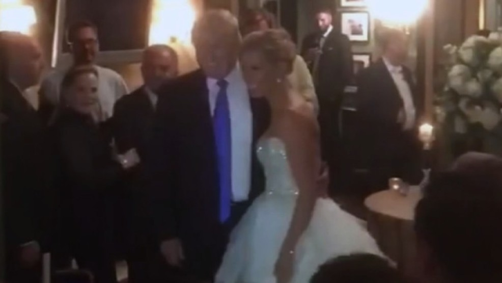 Watch President Trump Surprises Bride And Groom At Wedding