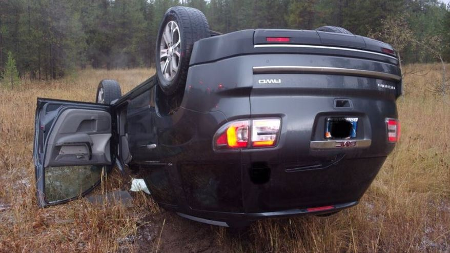 Driver flips car trying to Snapchat hailstorm in eastern Idaho