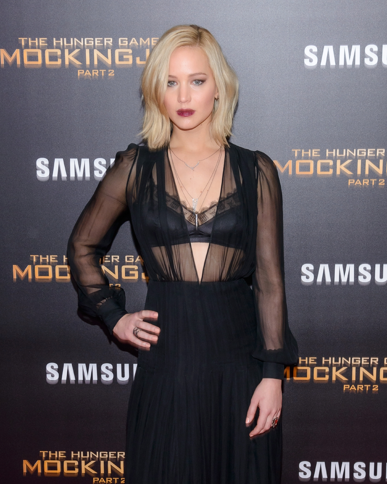 'Hunger Games: Mockingjay pt 2' Special Screening at AMC Lincoln Square - Arrivals  Featuring: Jennifer Lawrence Where: New York, New York, United States When: 18 Nov 2015 Credit: C.Smith/ WENN.com