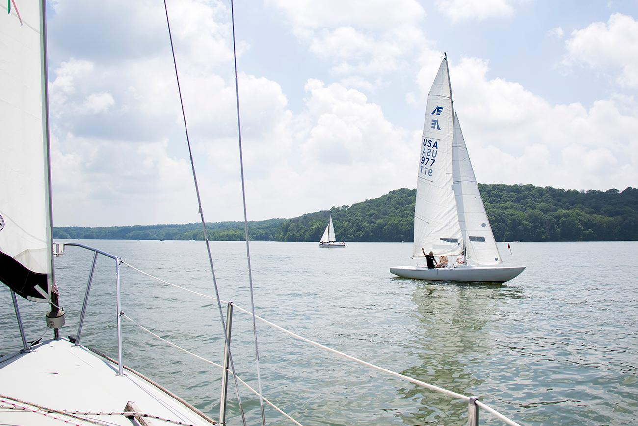 Brookville Lake Sailing Association is a nautical club located on Brookville Lake, a 5,260-acre reservoir located in the East Fork of the Whitewater River Valley in Indiana. The lake provides one of the most spacious inland sailing venues for sailors in the Tristate region. The association puts on sailboat races and many social events with other sailors from April to November. It's one hour west of Cincinnati. / Image: Allison McAdams // Published: 6.12.18