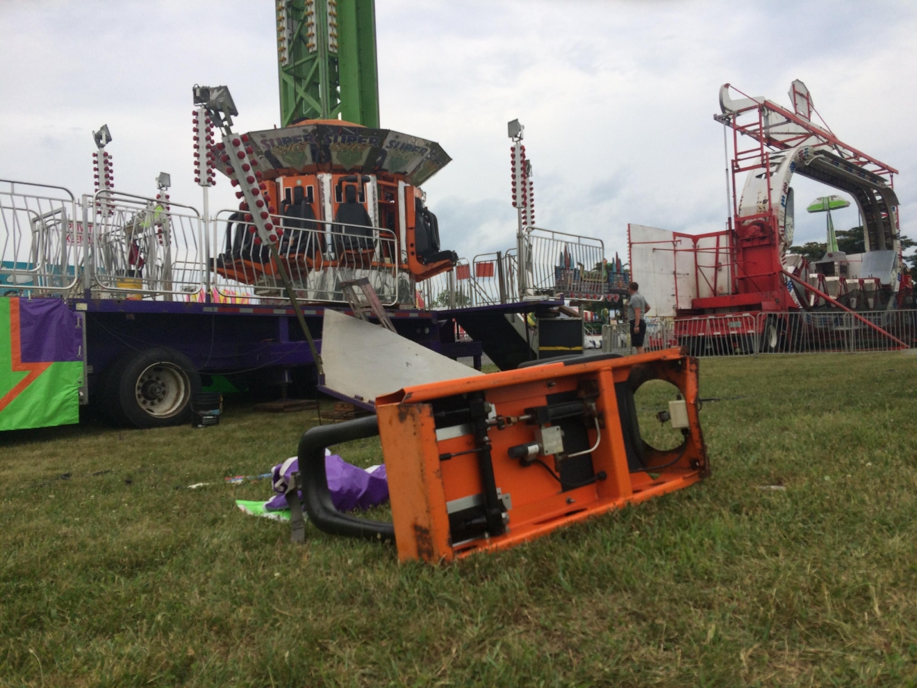 Woman seriously injured after 40 foot fall from ride at Virginia fairgrounds. (ABC7 photo)