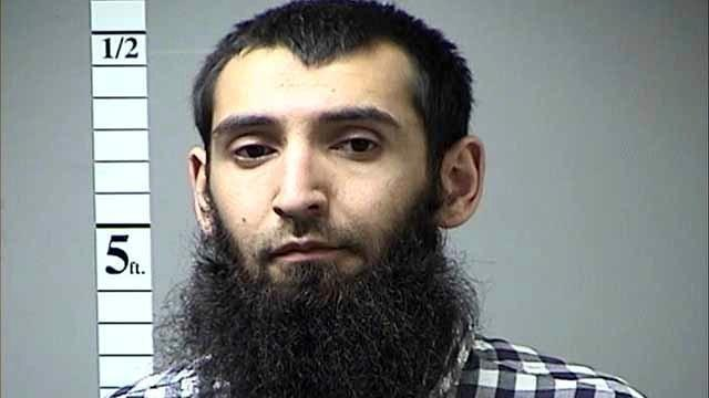 This undated photo provided by the St. Charles County Department of Corrections in St. Charles, Mo., via KMOV shows Sayfullo Saipov. (St. Charles County, Mo. Department of Corrections/KMOV via AP)