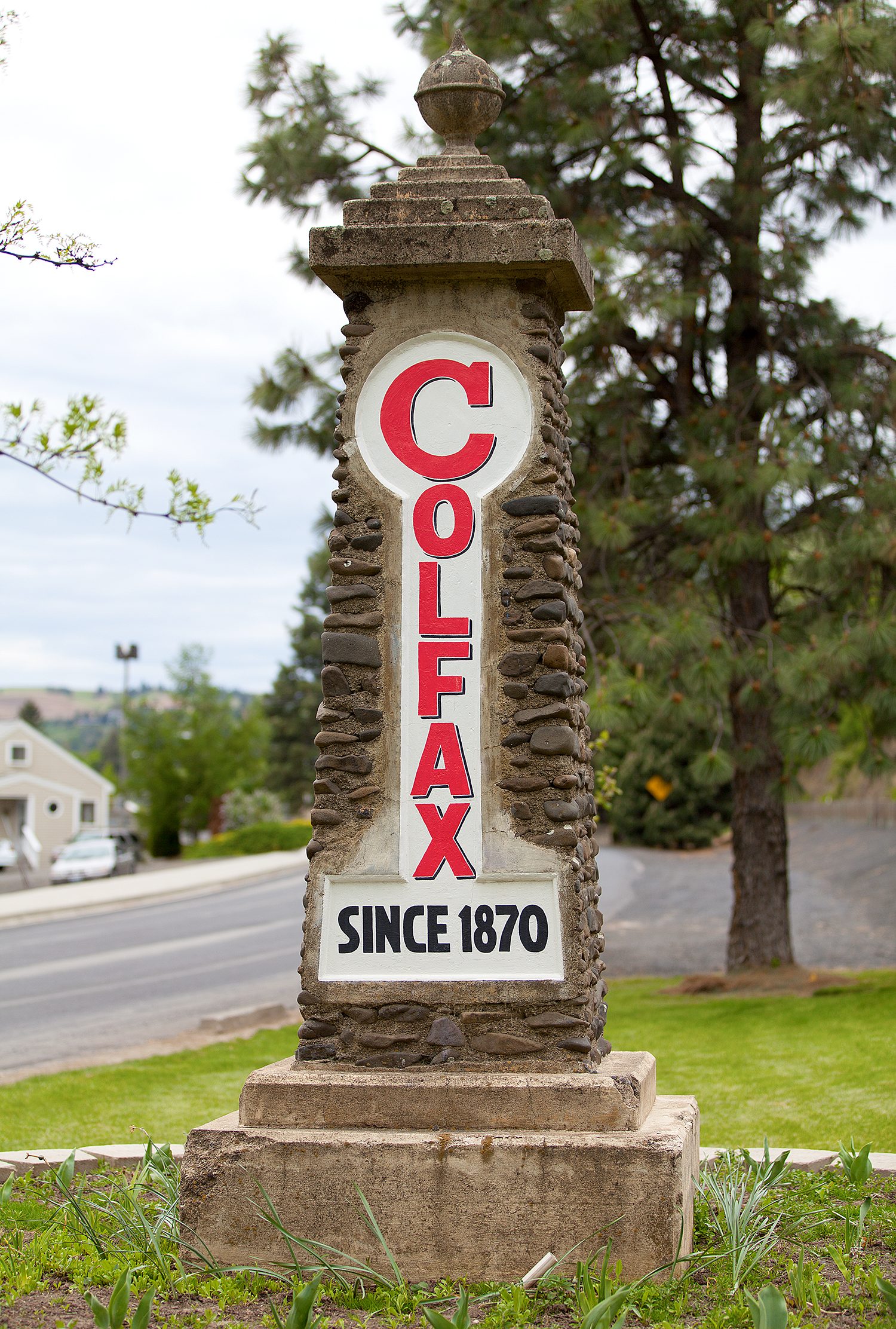 COLFAX. It's easy to focus on the destination rather than the journey, but that's only part of the story. There are so many exciting things to see along the way; the general store in a small town, a historical marker with information about an important event or a sign welcoming visitors into a town. Photographer Anthony May has been collecting Welcome signs from towns and cities he's visited for over nine years and across several states. This gallery focuses specifically on Washington. (Image: Anthony May / Seattle Refined)